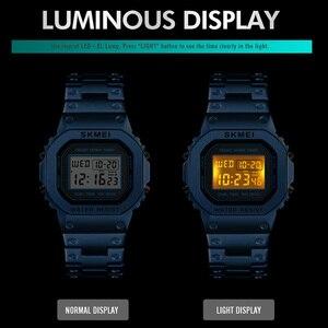 Image 4 - 크로노 그래프 카운트 다운 디지털 시계 남자 패션 야외 스포츠 손목 시계 남자 시계 알람 시계 방수 톱 브랜드 skmei