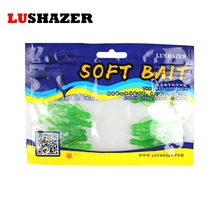 40pcs/lot LUSHAZER soft lures for fishing 5cm 1g iscas artificiais para pesca leurre peche fish silicone bait cheap China lure