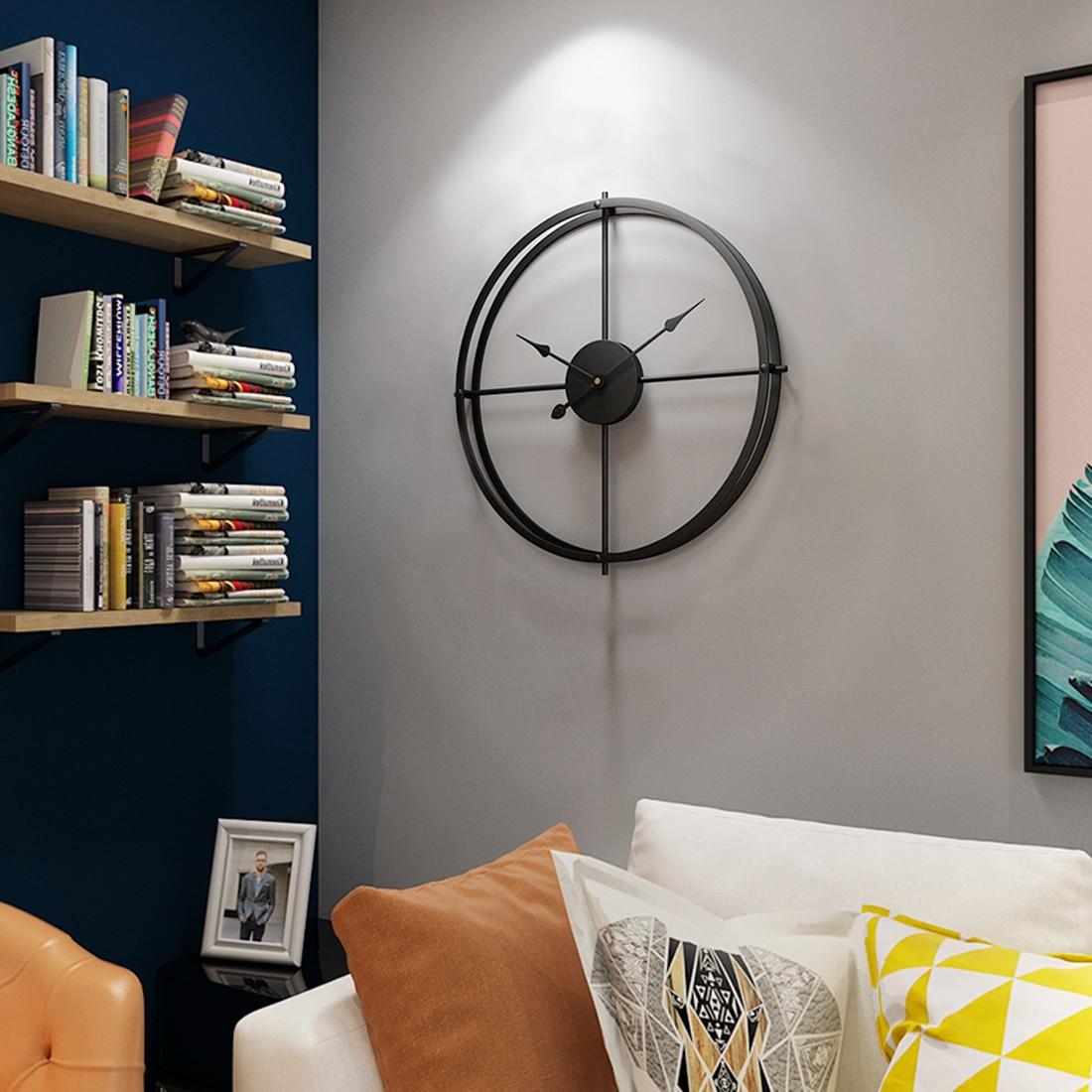 Homingdeco 40cm Silent Wall Clock Modern Design Clocks Home Decor Office European Style Hanging Wall Watch Clocks 2018