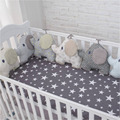 muslin life New Arrival Flexible Combination All kinds of Huts Bed Bumper Easy to Use Bumpers In The Crib Size 30*30 or 40*60cm