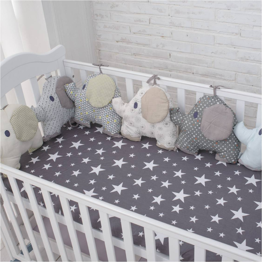 muslin life New Arrival Flexible Combination All kinds of Huts Bed Bumper Easy to Use Bumpers In The Crib Size 30*30 or 40*60cm ...