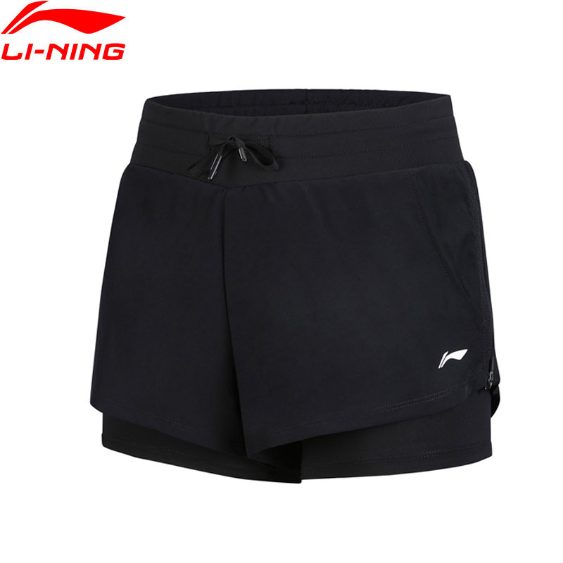 Li-Ning Women's Training Shorts Regular Fit 88.8% Polyester 11.2% Spandex Breathable Comfort LiNing Sports Shorts AKSN146 WKD596 li ning women training sweat pants loose fit polyester spandex comfort lining sports pants akln016 wky155