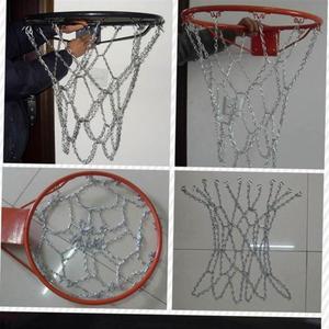 Image 5 - Классическая спортивная стальная баскетбольная сеть, наружная оцинкованная стальная цепочка, баскетбольная сетка