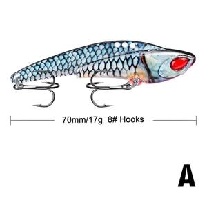 Image 4 - 1Pcs  Metal VIB 17g / 7cm fishing lure vibration Spoon Lure Crankbait Bass artificial hard bait Cicada VIB tackle