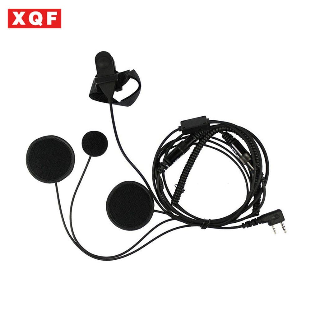 XQF Full Face Moto Motorcycle Bike Helmet Earpiece Headset Mic Microphone For Kenwood Two Way Radio TK3173/TK3200 BAOFENG UV-5R