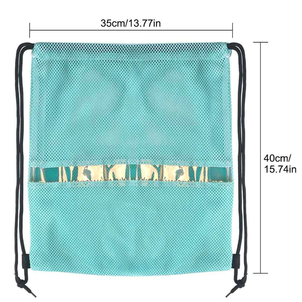 Mochila con cordón de moda bolsa de malla transpirable bolsa de deporte promocional bolsa de gimnasio Cinch bolsas
