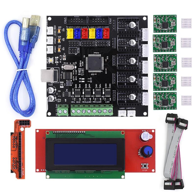 все цены на KFB2.0 control board Motherboard Reprap Controller main board +2004LCD Board For 3D Printer Heatbed онлайн