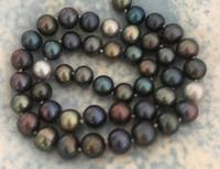 9 10mm tahitian multicolor black green red pearl necklace 18inch