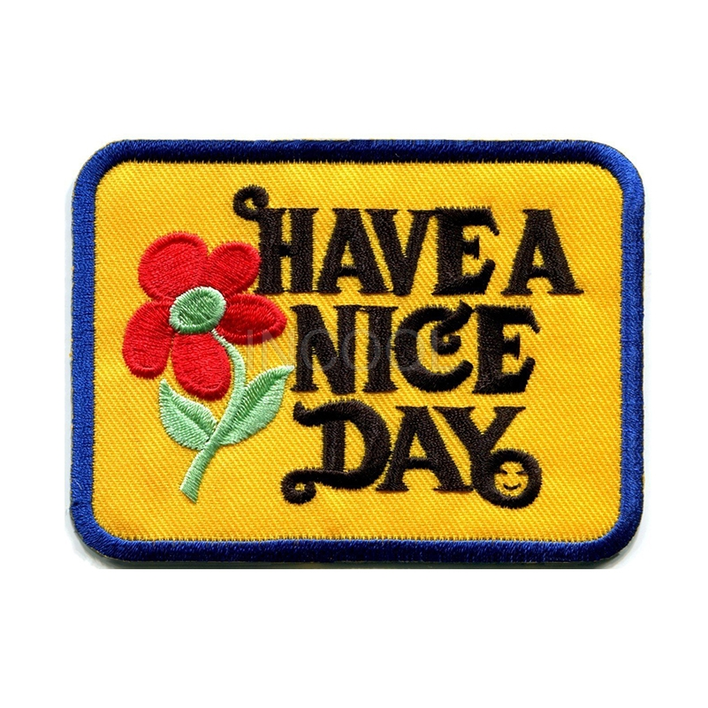 Embroidery Patch Have a nice day Military Morale Patch Tactical Emblem Badges Applique Embroidered Patches For Clothing Backpack