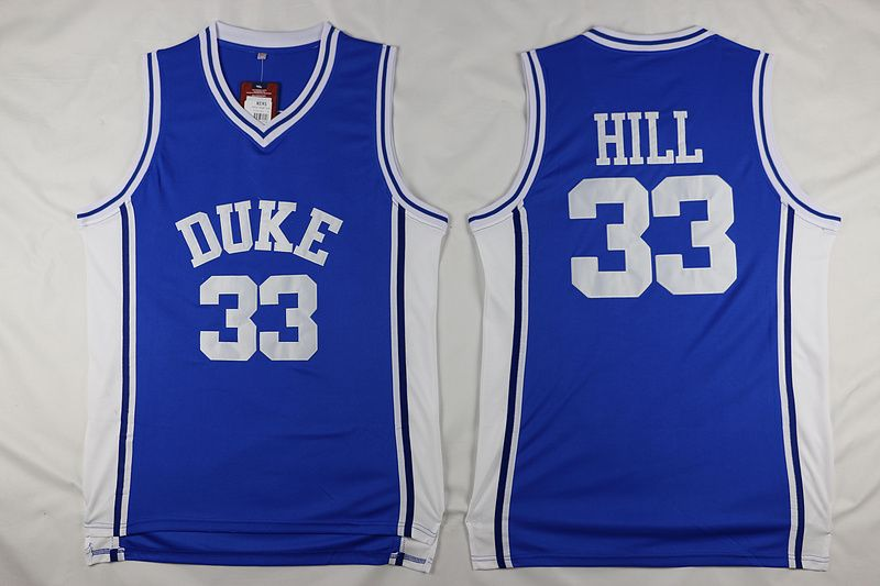 #33 Grant Hill #32 Christian Laettner Duke Blue Devils Throwback Jers Retro Basketball Jersey New Material Top quality embroider