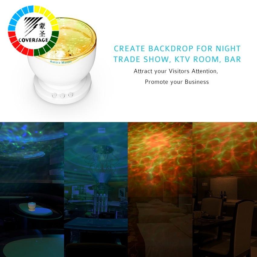 Coversage Okyanus Dalgası Projektör Müzik Çalar Hoparlör LED - Gece Lambası - Fotoğraf 4