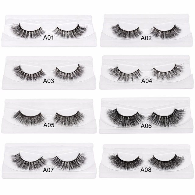 01e30292640 DYSILK Sexy 3D Mink Lashes Natural Long Mink False Eyelashes 100% Handmade  Thick Fake Eye Lashes High Quality Eyelashes
