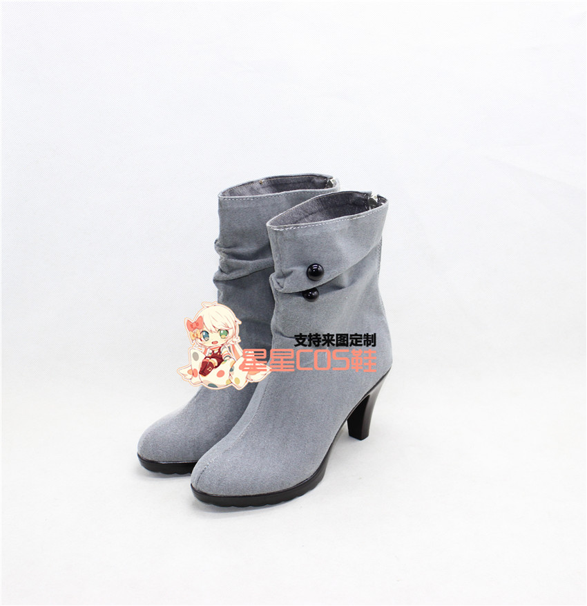 The Kagerou Project Tateyama Ayano Girls Gray Cosplay Shoes Boots X002