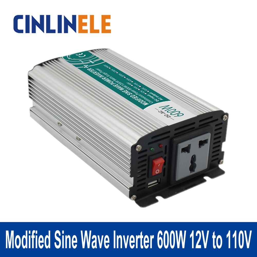 ФОТО Shine Series Modified Sine Wave Inverter 600W CLM600A-121 DC 12V to AC 110V 600W Surge Power 1200W