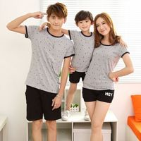 Family Matching Outfits Mom Daughter Father Son Clothing Set Short Sleeve O Neck T Shirts Camouflage