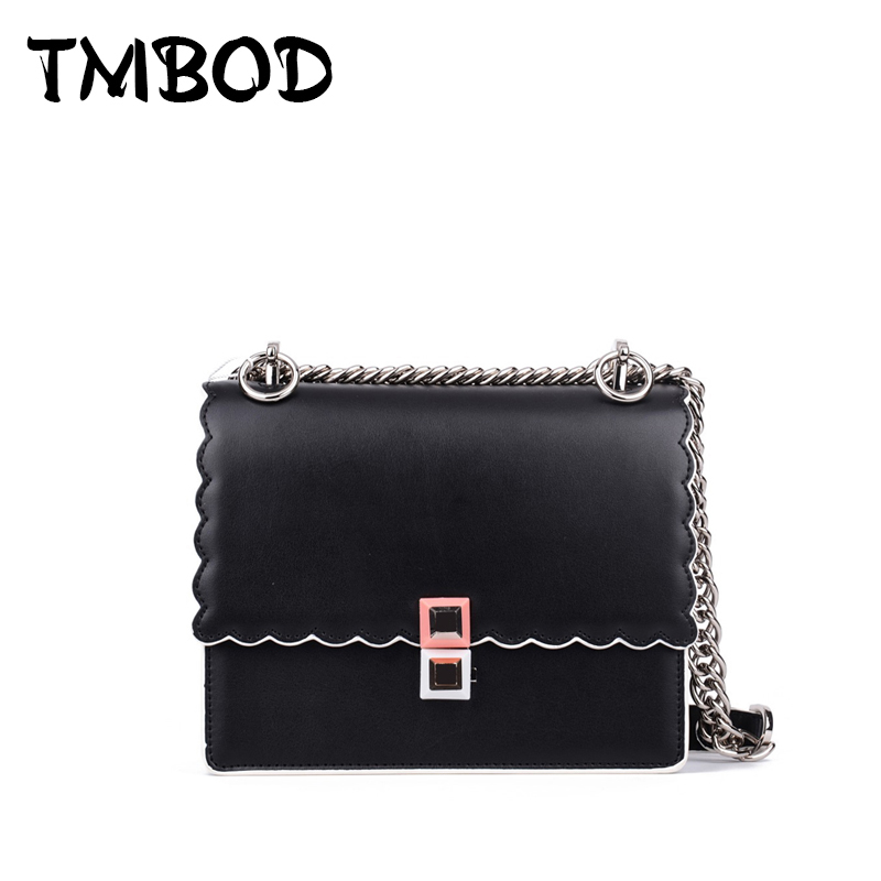 Hot 2017 Classic Ripple Side Crossbody Bag with Studs Women Split Leather Handbags Lady Bag Messenger Bag For Female an648 hot 2017 classic cute bow crossbody bag with studs women split leather handbags lady bag messenger bag for female an735
