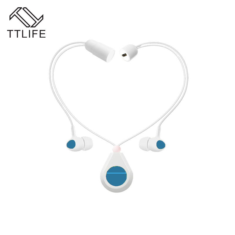 TTLIFE Bluetooth Earphone S025 Sports Necklace Hanging Neck Headset Fashion Music Stereo Headphones For Phone Xiaomi Original kz headset storage box suitable for original headphones as gift to the customer