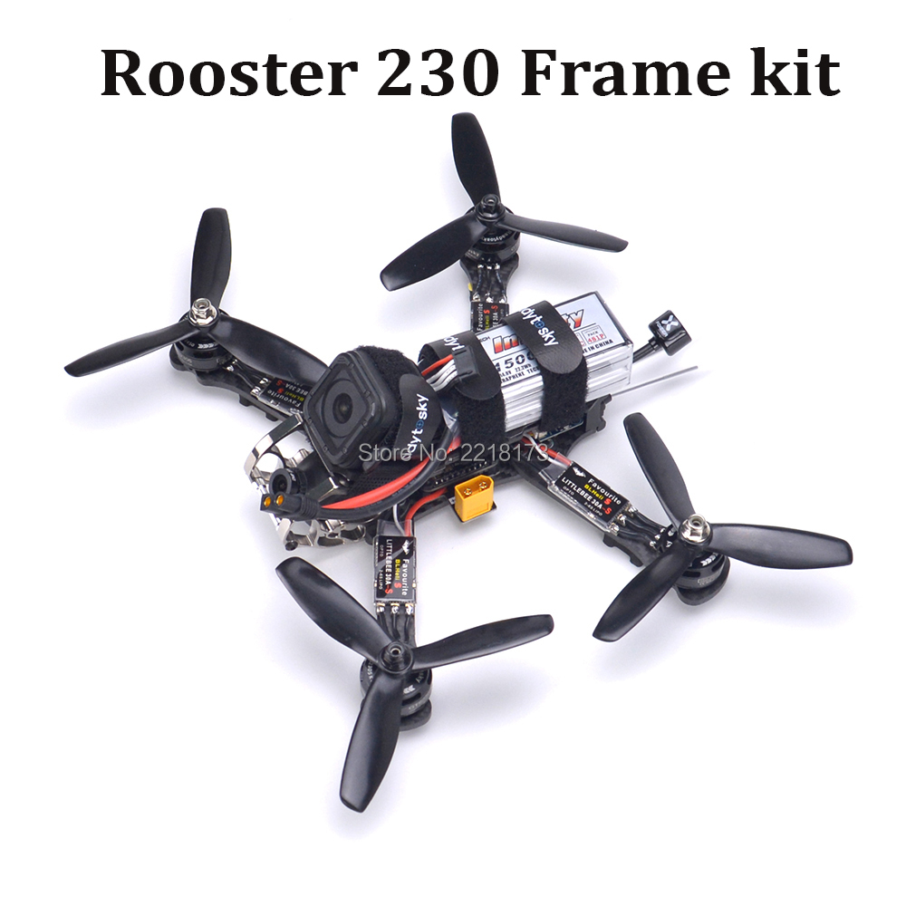 купить Rooster 230 Quadcopter Kit Naze32 Rev6 / F3 flight controller GTS2305 2450kv Motor Littlebee 30A-S ESC 700TVL For PUDA Rooster онлайн
