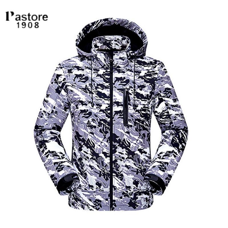 Pastore 1908 men waterproof windproof thermal softshell jacket outdoor hiking fishing hunting autumn winter jacket men winter outdoor jacket autumn hiking