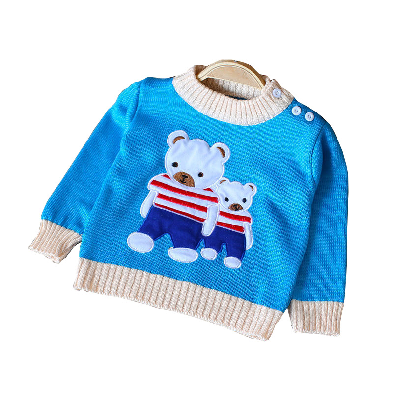 BibiCola Spring Autumn Kids Cotton Cartoon Long Sleeve Sweaters For Boys Girls Baby Fall Sweater Knit Clothing