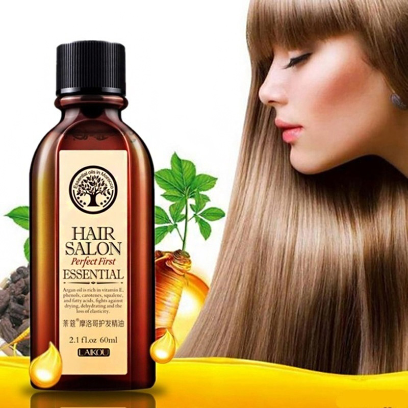 Hot Sale Hair Oil Argan Oil 60ml Clean Hair Curly Hair Treatment Hair Care Salon Essential JLRS 2019 image