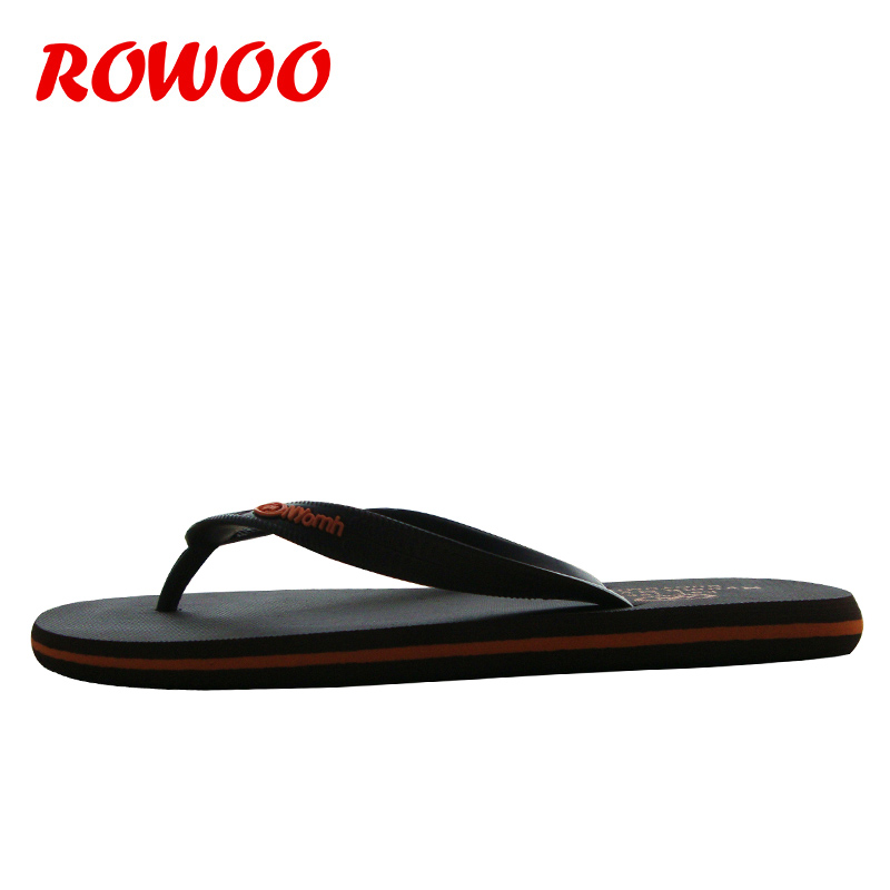 Impression De Sandales Casual Plein Flip Caoutchouc flop Simple Air Flip brown En Plat Flops Sport yellow D'été Hommes Chaussures Mode Style Black gEwx8X