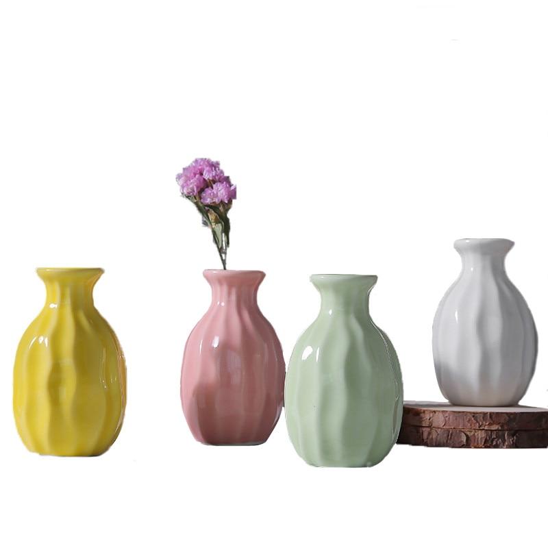Ceramic Vase Tower Vase For Home Decoration Photo Prop Fashion Ceramic Bottle Green Plant Ceramic Flower Vases