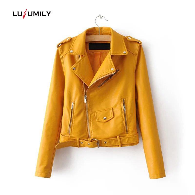 Fitaylor Automne Hiver Femme Women Short zipper Pu Leather Jacket Moto Outwear 2017 New Fashion Souple Faux Cuir Manteaux Courte mavi süet ceket