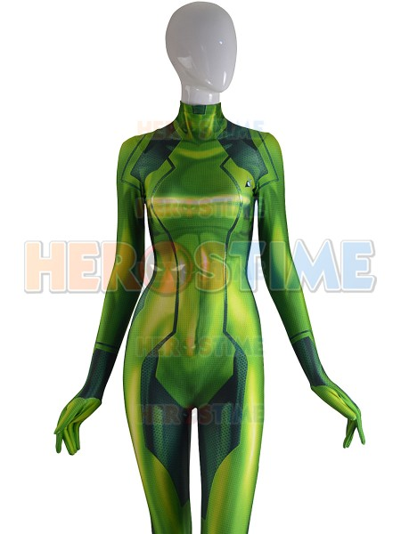 3D Print The Newest Zero Suit Samus Aran Costume Metroid Game Zentai Catsuit Samus Zero Cosplay