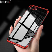 UTOPER Case For Huawei Honor 9 Lite Case Soft Plastic Laser Plating Transparent Cover For Honor View 10 Case For 8 9 Lite V10(China)