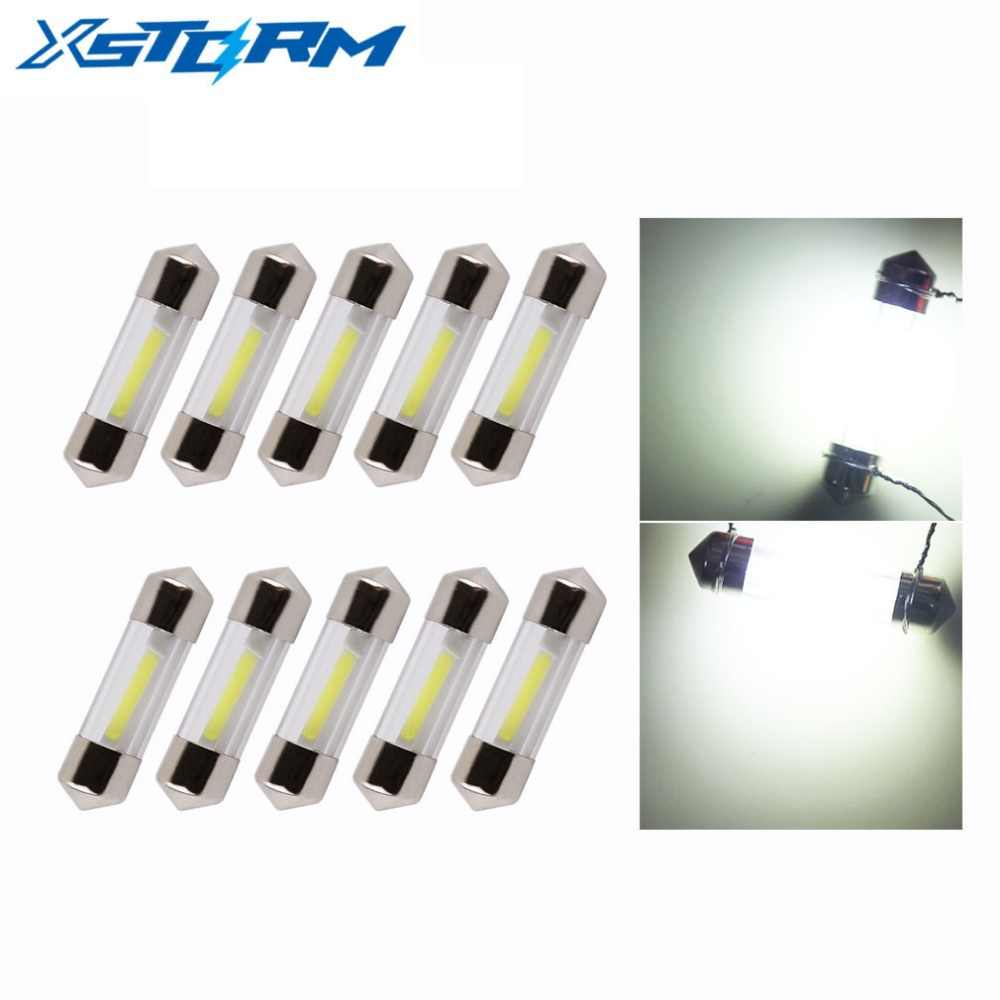 10Pcs C5W C10W LED Bulb Festoon Led Light 31mm 36mm 39mm 41mm Auto Dome Reading Lamp License Plate Lights Car Interior Bulb 12V