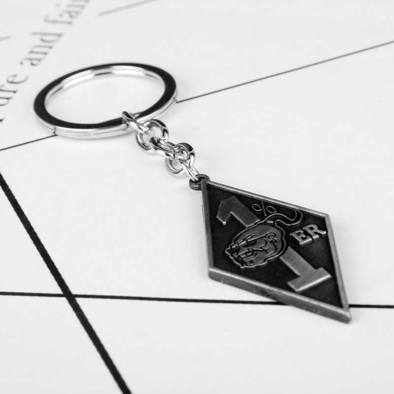 dongsheng Bandidos Motorcycle Club Keychain With 1%er Pendants Keyring Key Chain Keys Holder Vintage Jewelry -50