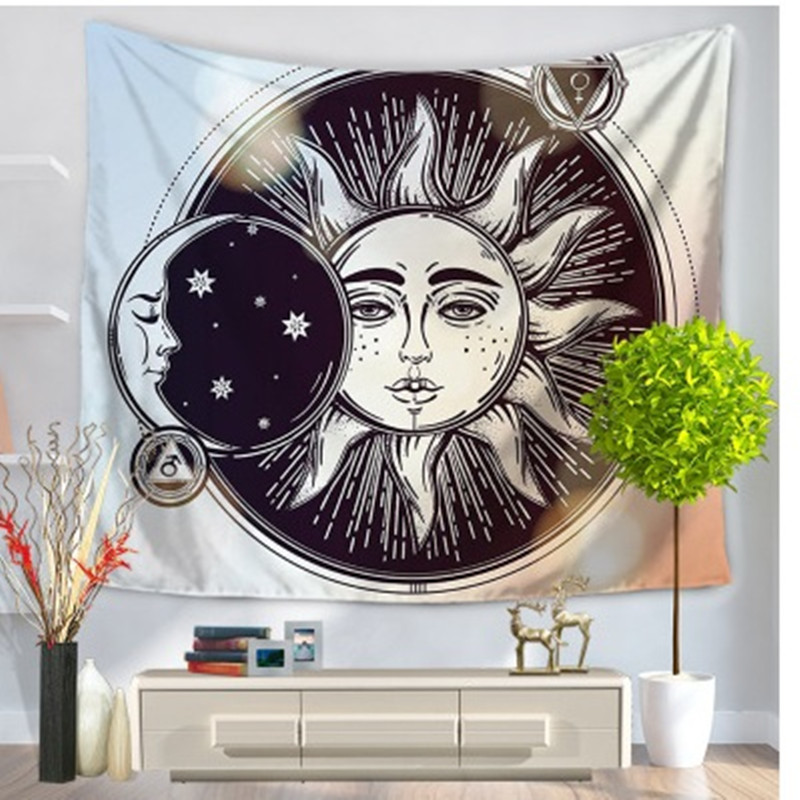 New Fashion Indian Sun God Tapestry Hanging Wall Carpet Tapestries Polyester Throw Beach Towel Sheet Picnic Blanket Sleeping Pad 150*130cm Providing Amenities For The People; Making Life Easier For The Population Smart Electronics