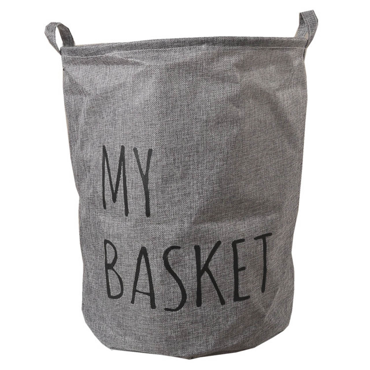 NºÚnico lavado de lino de algodón plegable ropa de lavandería cesta ...
