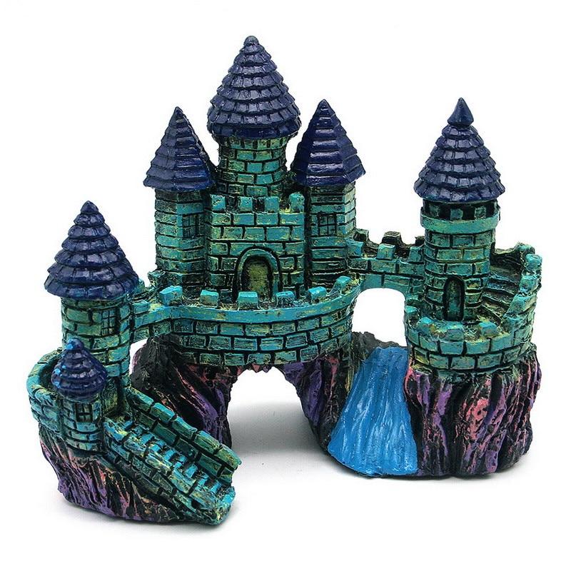 Resin Aquarium Artificial Castle Decoration European Style ...