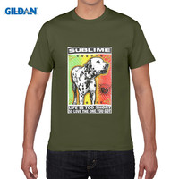 GILDAN Pure Cotton Round Collar T Shirt Print Tee4u Crazy T Shirts Sublime Lou Dog O