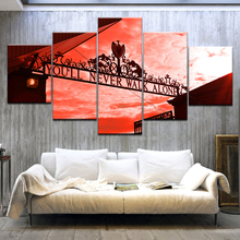 5 Panel/pieces HD Print Buy you will never walk alone wall posters On Canvas Art Painting For home living room decoration