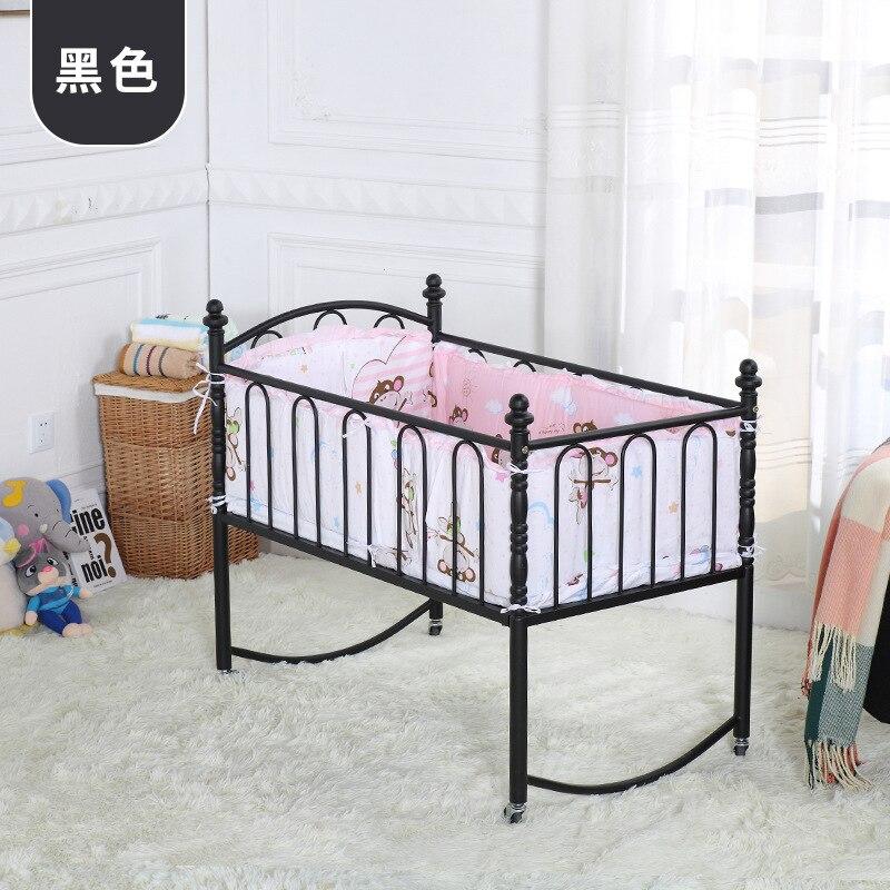 Carro de bebé cunas camas Madre y niños metal cuna bebé cuna con Red ...