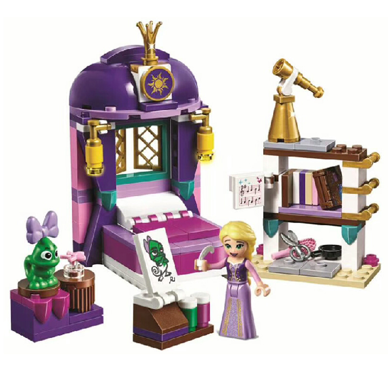 Купить с кэшбэком Lepinblocks Princess Girl 25017 Rapunzel Castle Bedroom Building Blocks Toys for Children Girls gift Friends 41156