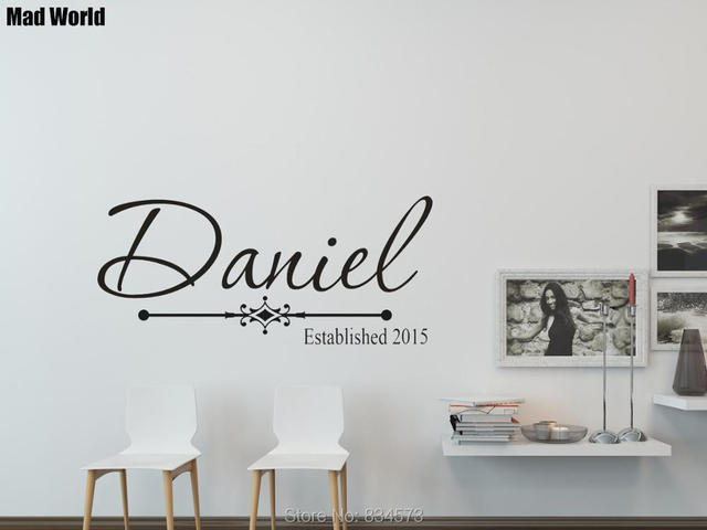 personalized custom family established date wall art stickers wall