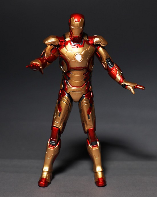 Image 4 - Marvel The Avengers Stark Iron Man 3 Mark VII MK 42 43 MK42 MK43 PVC Action Figure Collectible Model Toys 18cm KT395model toytoy markthe avengers -