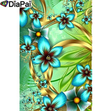 DIAPAI 100% Full Square/Round Drill 5D DIY Diamond Painting Flower landscape Diamond Embroidery Cross Stitch 3D Decor A18836 diapai 100% full square round drill 5d diy diamond painting flower landscape diamond embroidery cross stitch 3d decor a21095