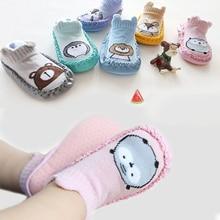 Baby Socks With Rubber Soles Infant Newborn Girls Boys Autumn Winter Children Floor Socks Shoes Anti Slip Soft Sole Sock 2019 все цены