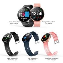 Водонепроницаемый умный браслет кровяное давление фитнес-трекер монитор сердечного ритма Смарт-напоминание круглые Смарт-часы для Android IOS Телефон