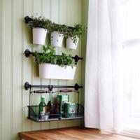 Reusable Metal Storage Basket Mesh Crate Vintage Kitchen Office Storage Desk Organizer