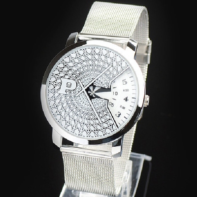 Fashion Brand Men's Ladies Unisex Quartz Sports Watches Mesh Steel Casual Clocks Stainless Steel Wristwatches Relogio Masculino