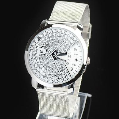 Fashion Brand Men's Ladies Unisex Quartz Sports Watches Mesh Steel Casual Clocks Stainless Steel Wristwatches Relogio Masculino