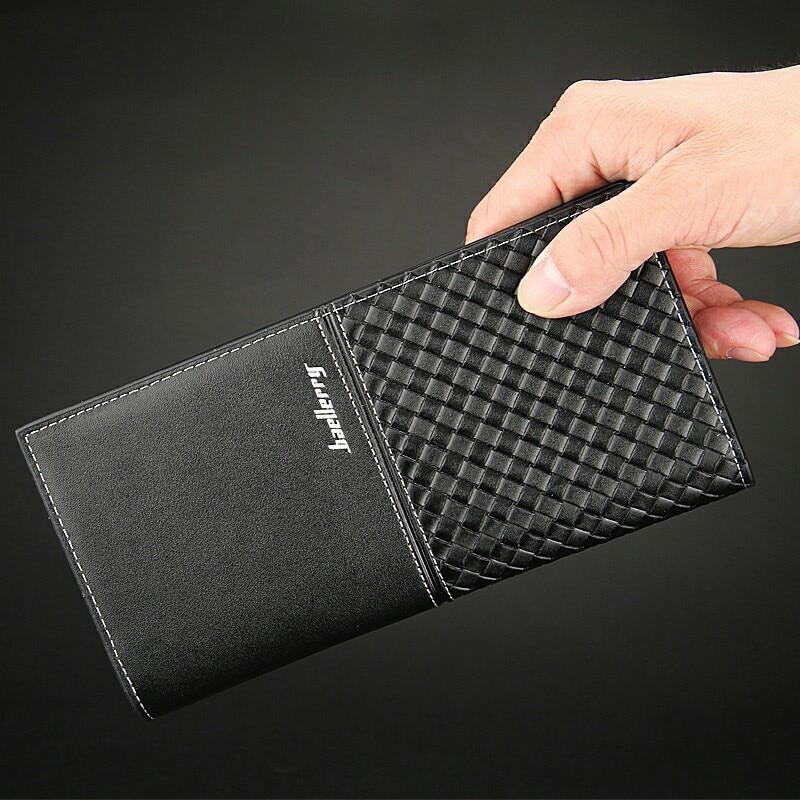 Brand Casual Hot Sale Mens Wallets Long Korean Style Braided pattern wallet Multi-card bit Coin Purse luxury wallet leather Men