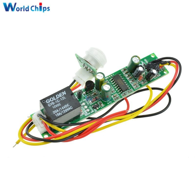 Lower Price with Dc 12v 5a Ir Pyroelectric Infrared Pir Motion Sensor Detector Body Infrared Module For Electrical Automatic Control Module Electronic Components & Supplies