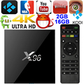 Lo nuevo S905X X96 Android 6.0 TV BOX Amlogic Quad Core Malvavisco 2 GB 16 GB HDMI Opcional 2.0 KODI Totalmente Cargado X96 Set Top caja